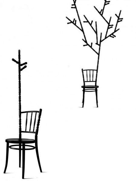2-in-1, stoel en kapstok