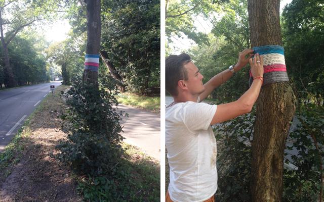 Afgelopen vrijdag hebben wij de dag herdacht en de boom voorzien van een jasje voor de winter