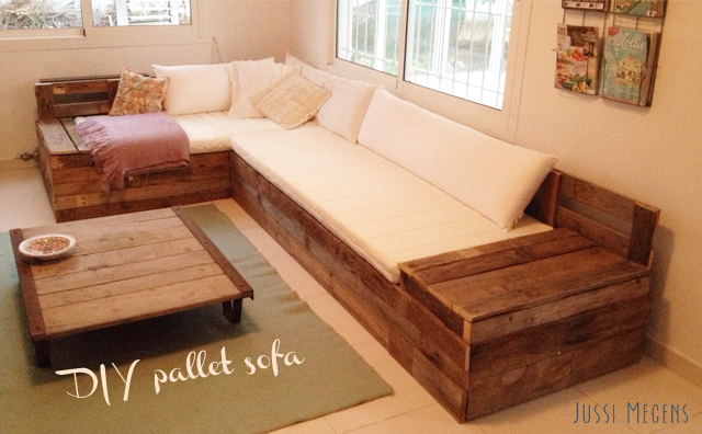 DIY sofa van pallets