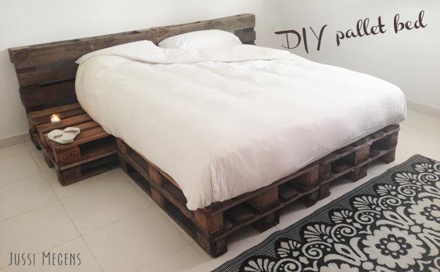 cama de bricolaje van paletas