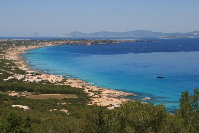 Formentera vanaf het (gairebé) hoogste punt op het eiland