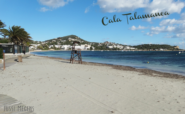 Cala Talamanca, Ibiza. The biggest beach close to Ibiza town with loads of facilities!