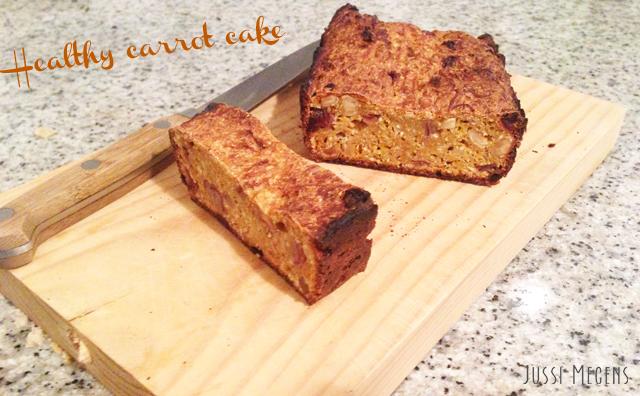 Healthy carrot cake - heerlijk als ontbijt of tussendoortje en super gezond!